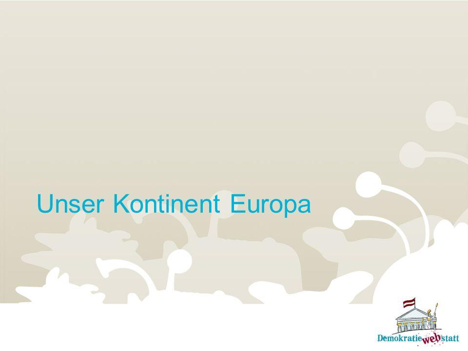 Unser Kontinent Europa