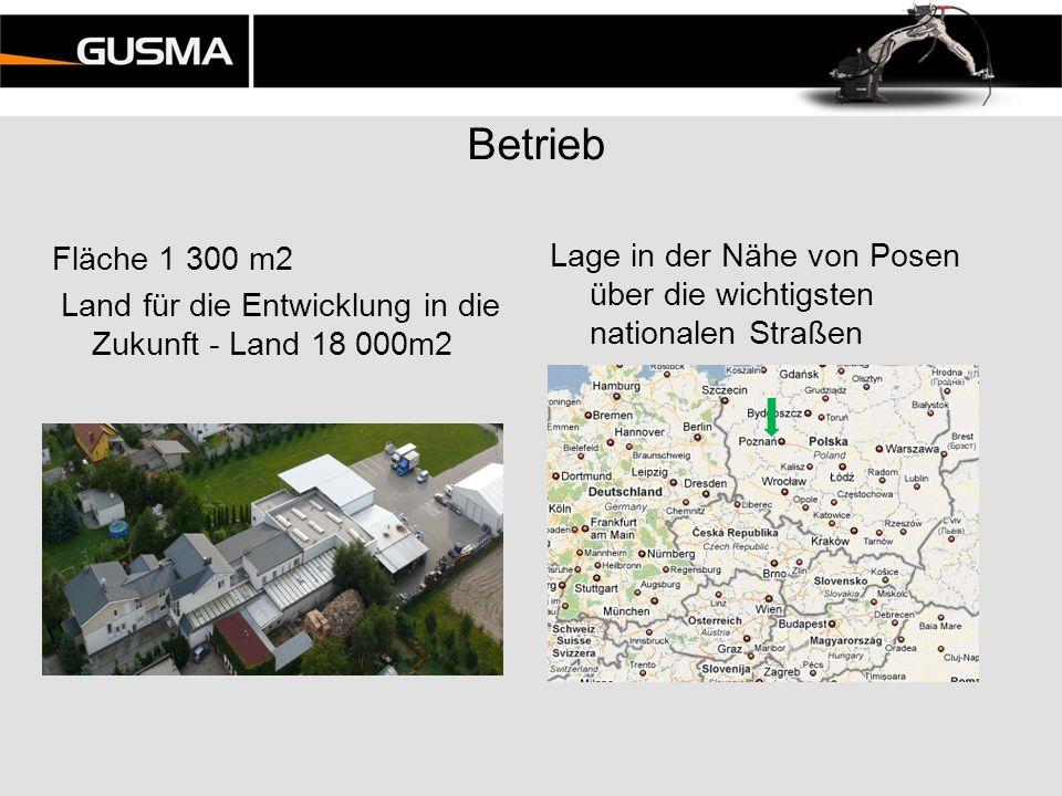 Betrieb Fläche 1 300 m2 Land für die Entwicklung in die Zukunft - Land 18 000m2 Lage in der Nähe von Posen über die wichtigsten nationalen Straßen.