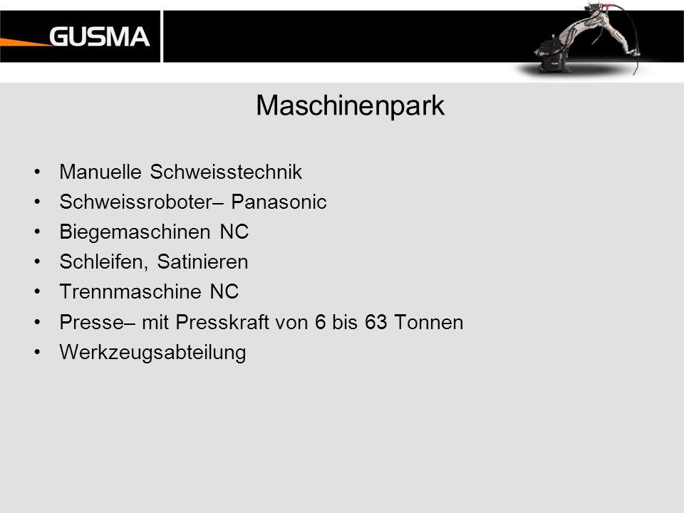 Maschinenpark Manuelle Schweisstechnik Schweissroboter– Panasonic