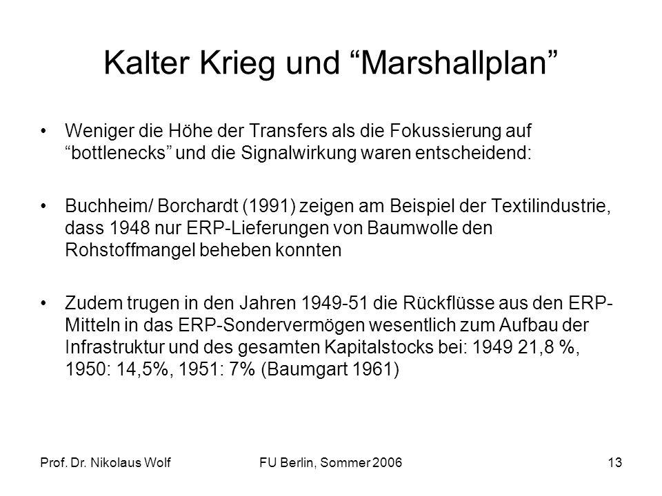 Kalter Krieg und Marshallplan