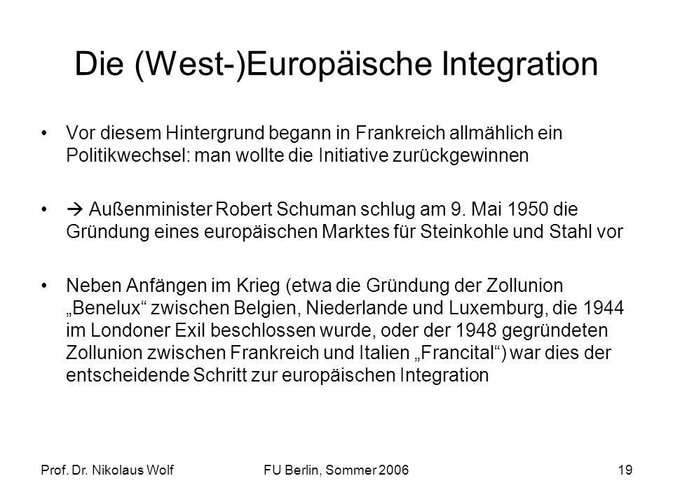 Die (West-)Europäische Integration