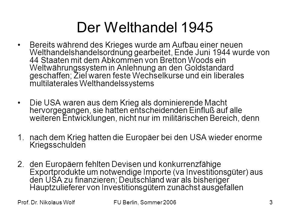 Der Welthandel 1945