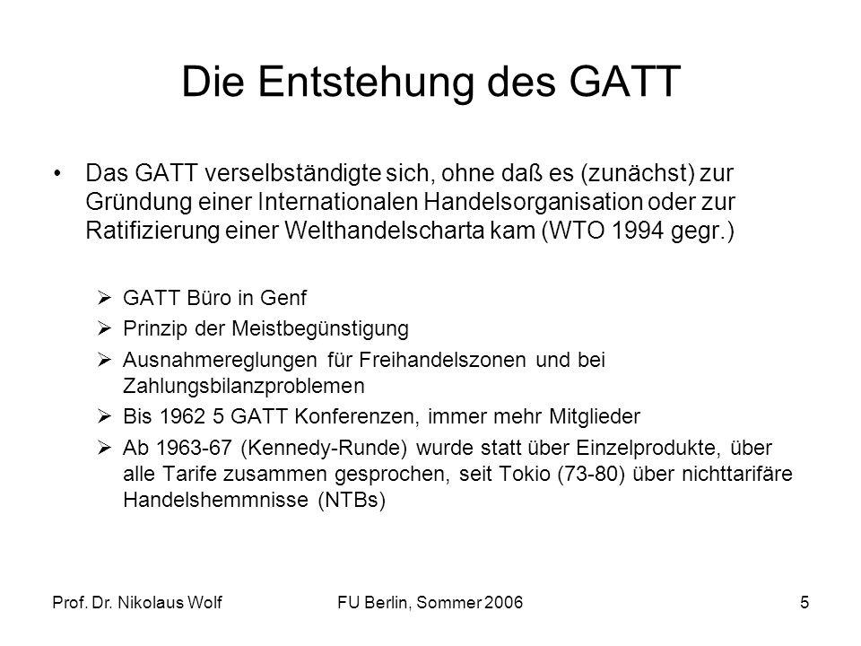 Die Entstehung des GATT