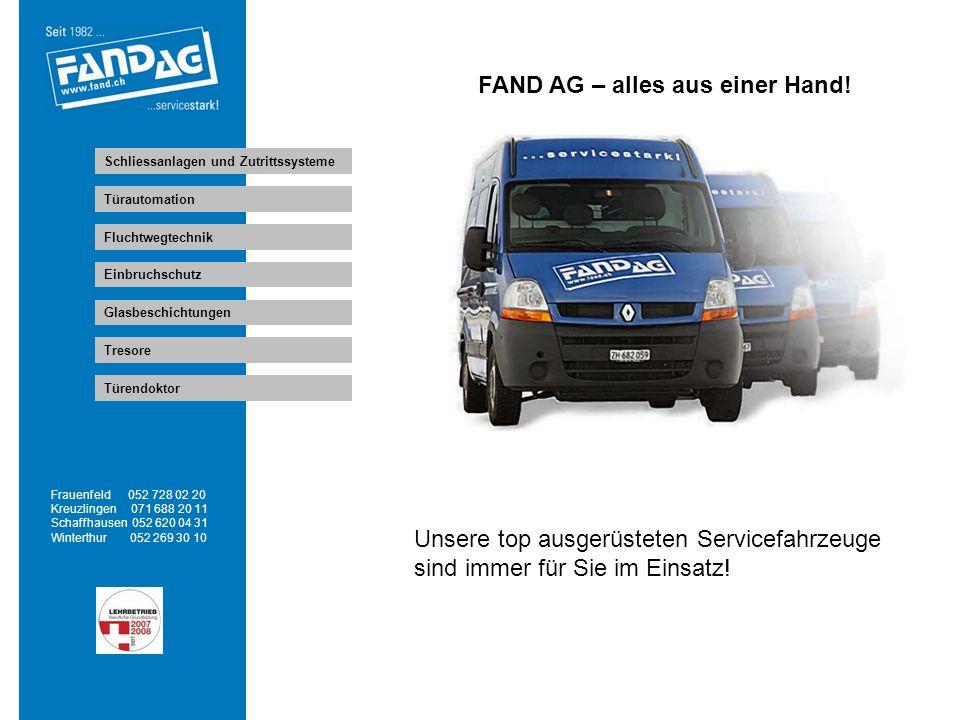 FAND AG – alles aus einer Hand!