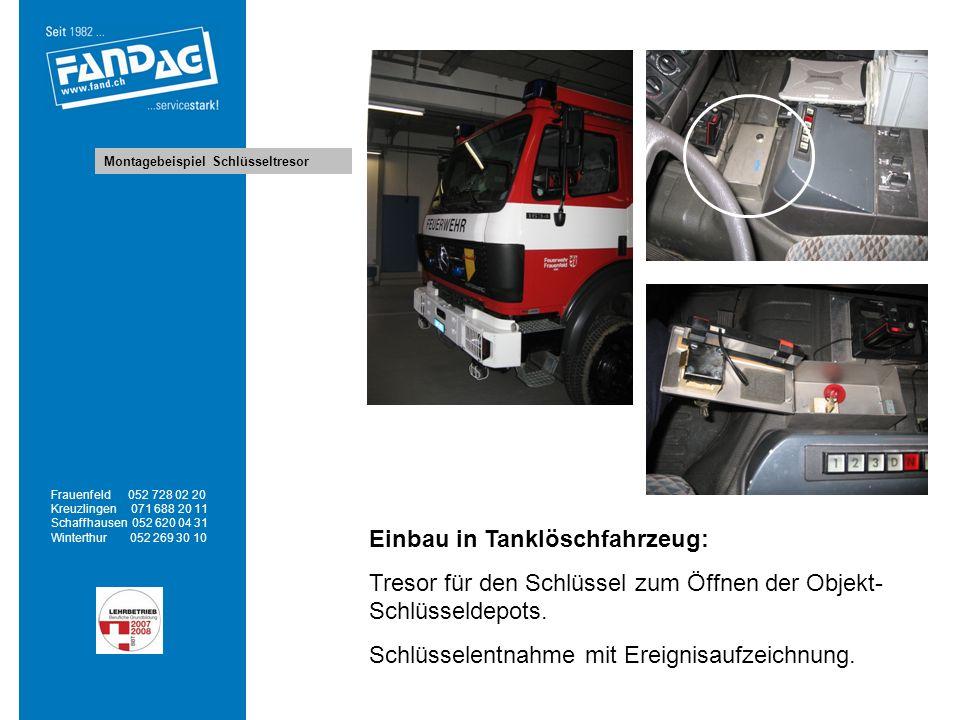 Einbau in Tanklöschfahrzeug: