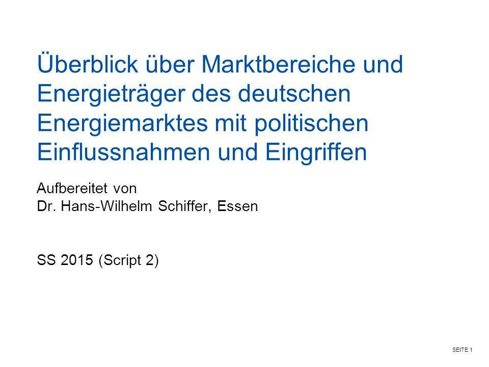 Aufbereitet von Dr. Hans-Wilhelm Schiffer, Essen SS 2015 (Script 2)