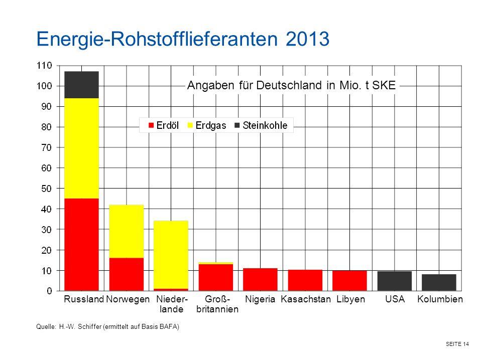 Energie-Rohstofflieferanten 2013