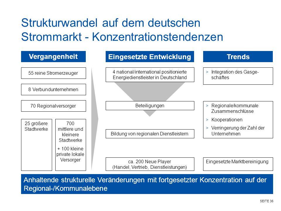 Strukturwandel auf dem deutschen Strommarkt - Konzentrationstendenzen