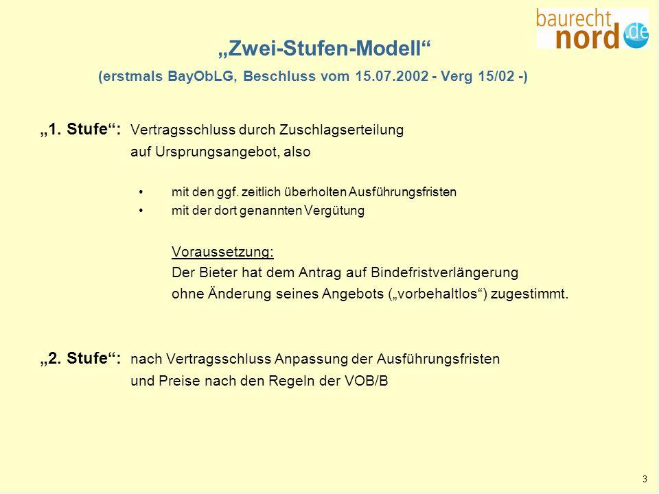 """""""Zwei-Stufen-Modell (erstmals BayObLG, Beschluss vom 15. 07"""