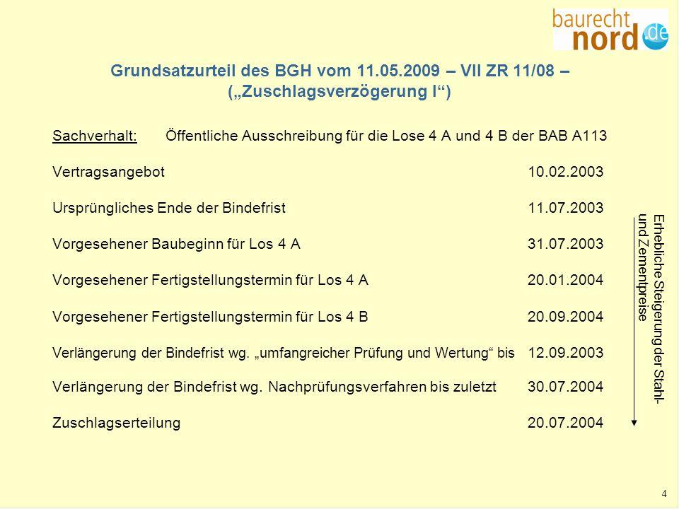 Grundsatzurteil des BGH vom 11. 05