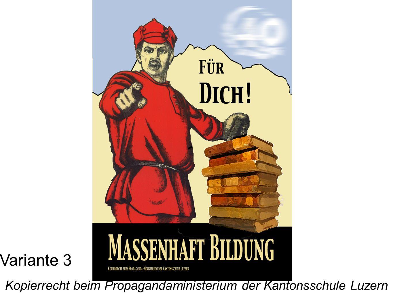 Kopierrecht beim Propagandaministerium der Kantonsschule Luzern