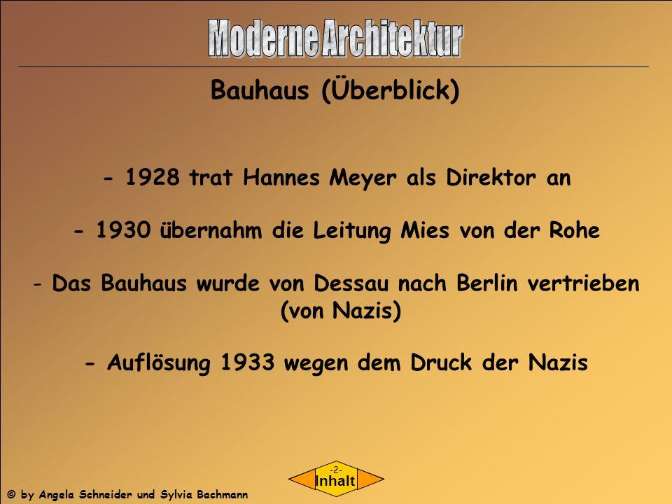Moderne Architektur Bauhaus (Überblick)