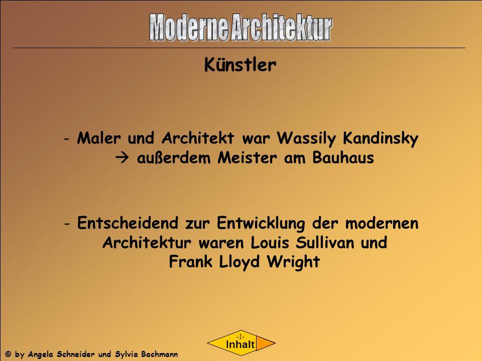 Moderne Architektur Künstler Maler und Architekt war Wassily Kandinsky