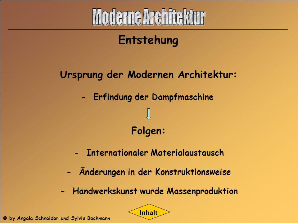 Moderne Architektur Entstehung Ursprung der Modernen Architektur:
