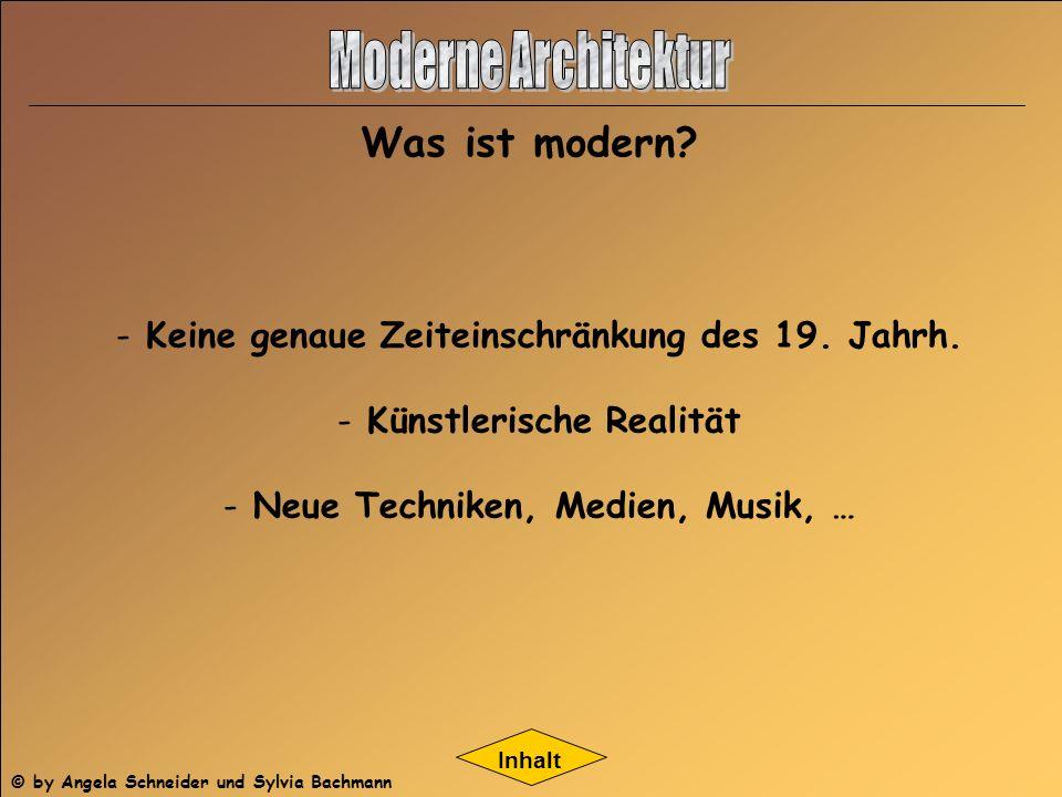 Moderne Architektur Was ist modern