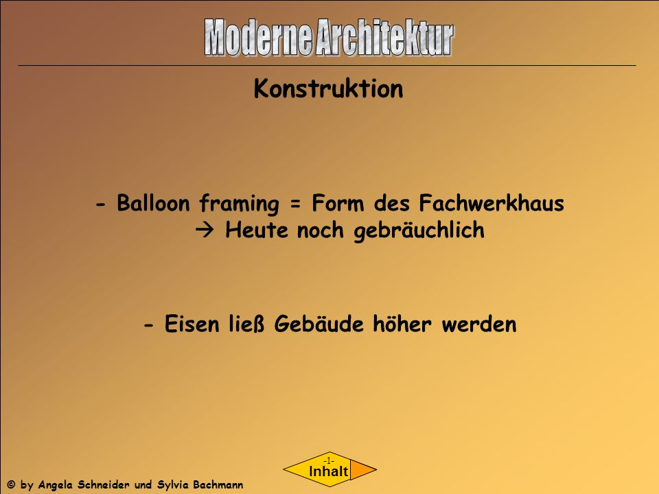 Moderne Architektur Konstruktion