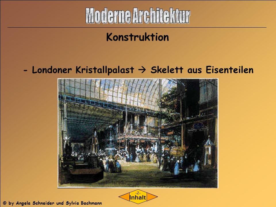 - Londoner Kristallpalast  Skelett aus Eisenteilen