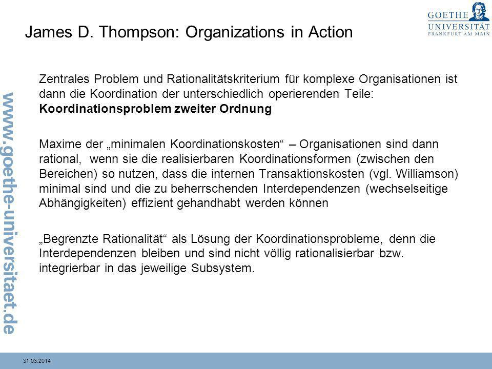 James D. Thompson: Organizations in Action