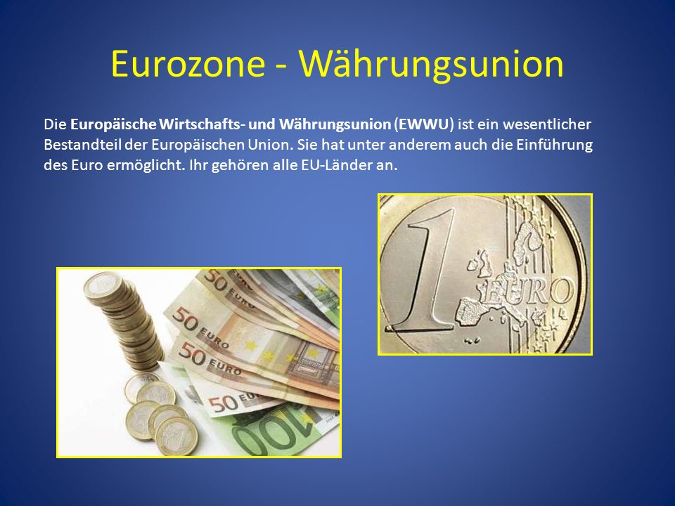 Eurozone - Währungsunion