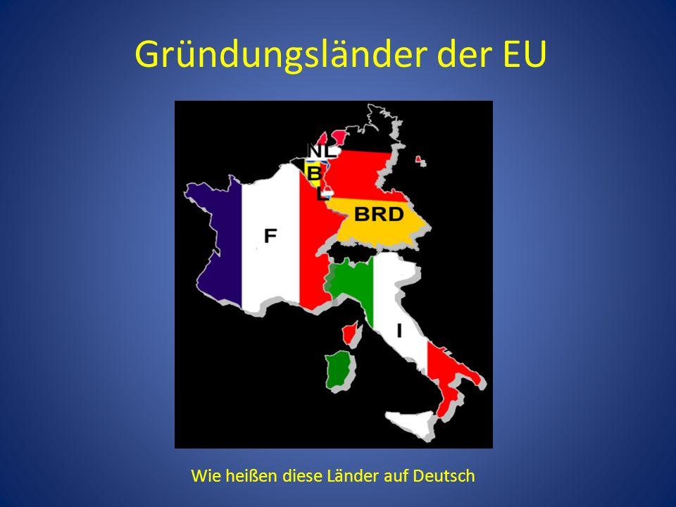 Gründungsländer der EU