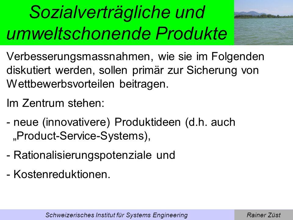 Sozialverträgliche und umweltschonende Produkte