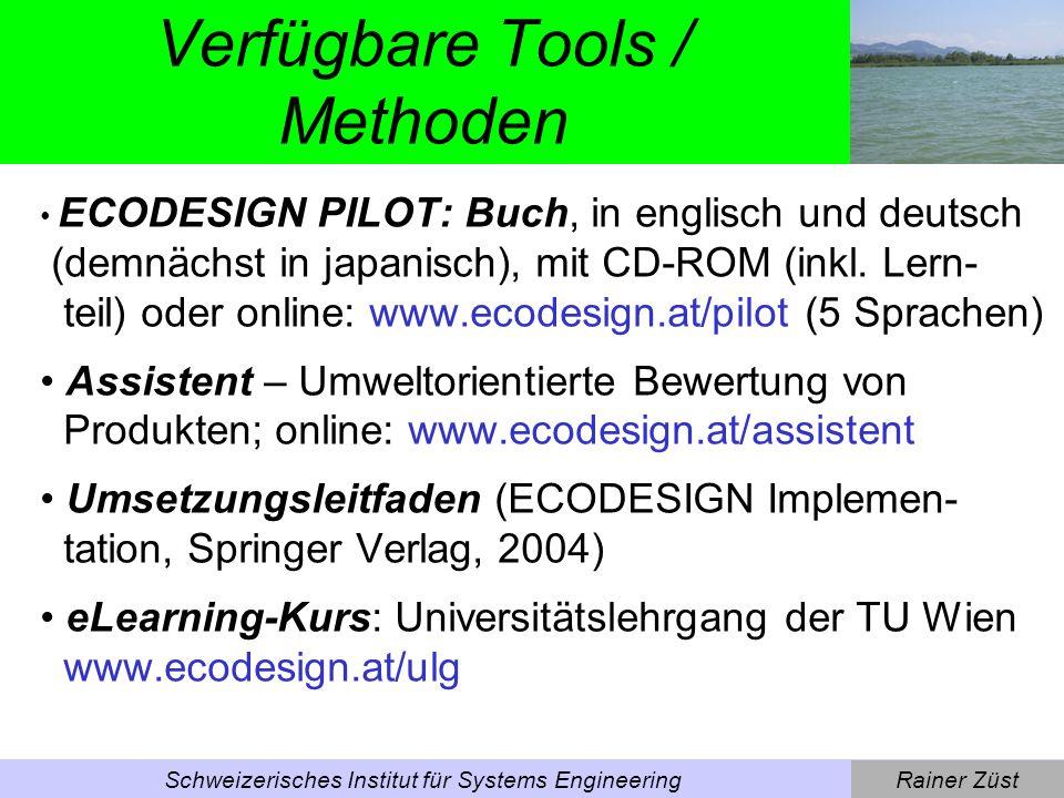 Verfügbare Tools / Methoden