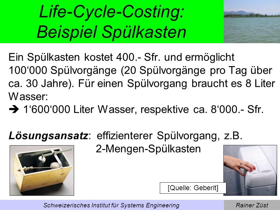 Life-Cycle-Costing: Beispiel Spülkasten