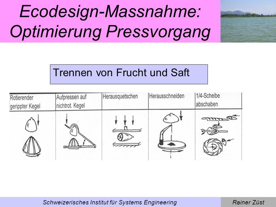 Ecodesign-Massnahme: Optimierung Pressvorgang