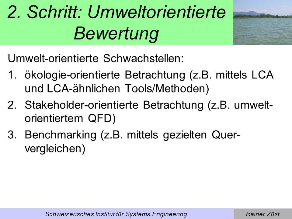 2. Schritt: Umweltorientierte Bewertung