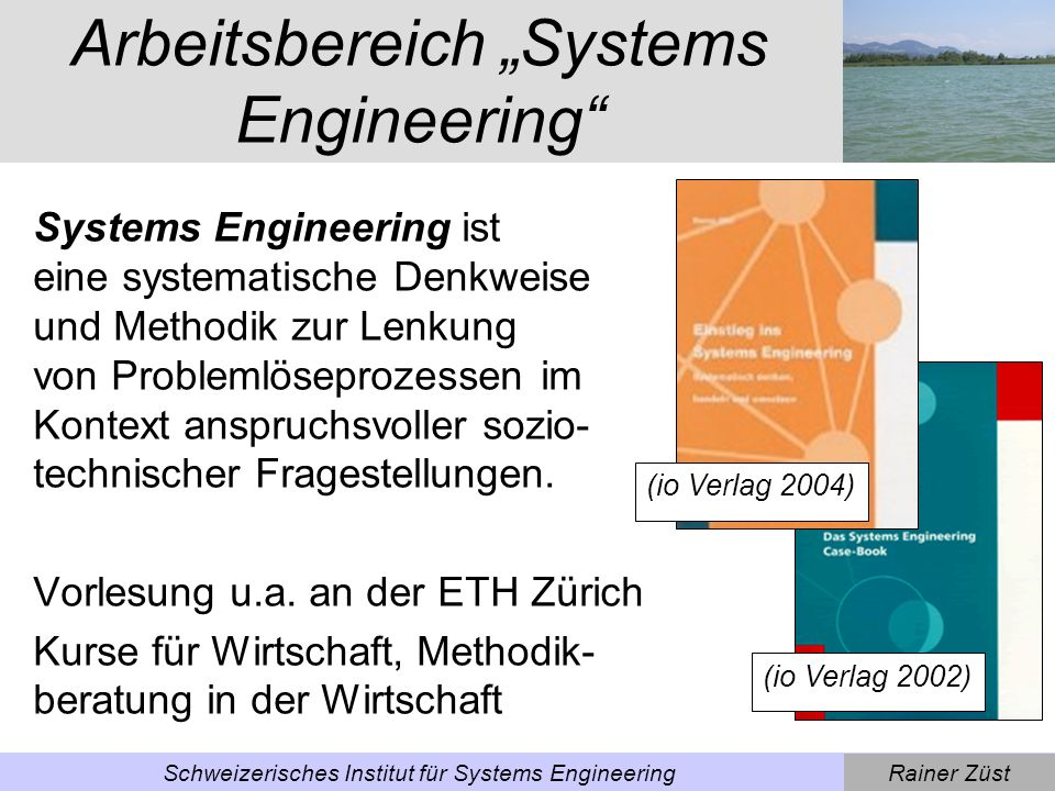 "Arbeitsbereich ""Systems Engineering"