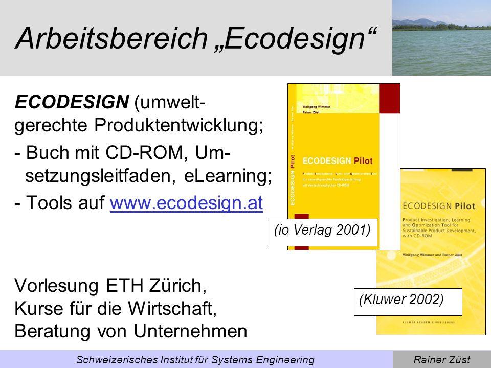 """Arbeitsbereich """"Ecodesign"""