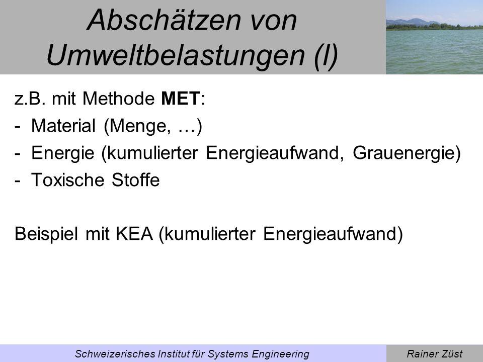 Abschätzen von Umweltbelastungen (l)