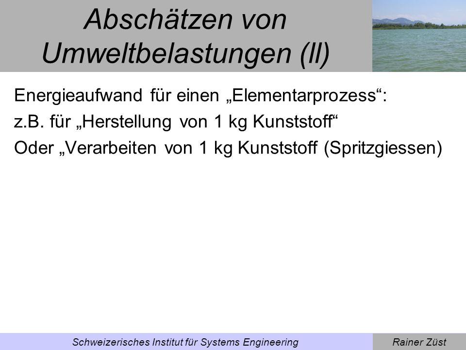 Abschätzen von Umweltbelastungen (ll)