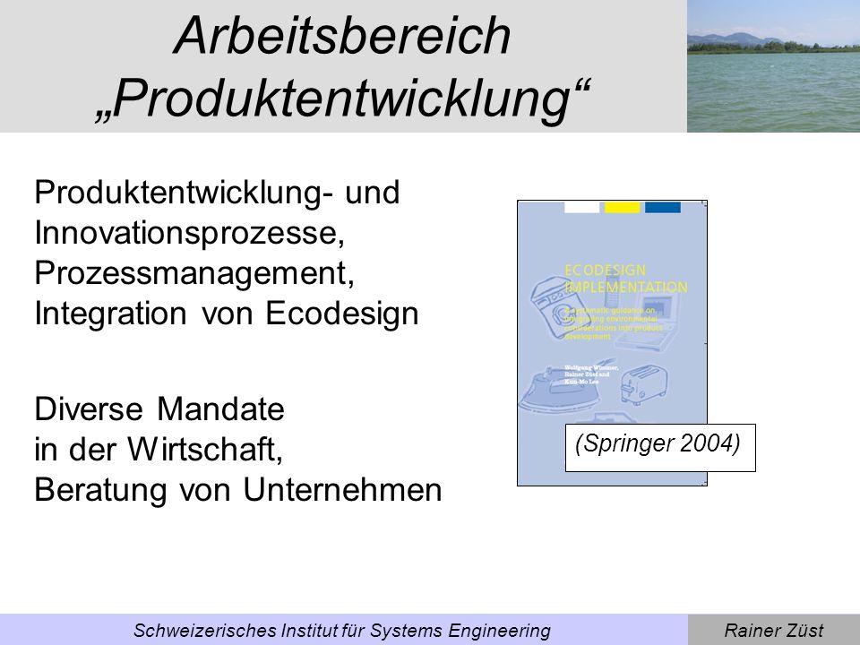 """Arbeitsbereich """"Produktentwicklung"""