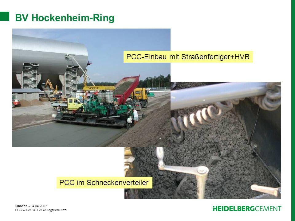 PCC-Einbau mit Straßenfertiger+HVB