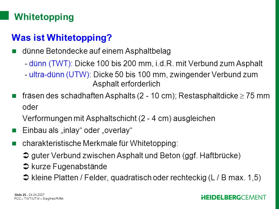 Whitetopping Was ist Whitetopping