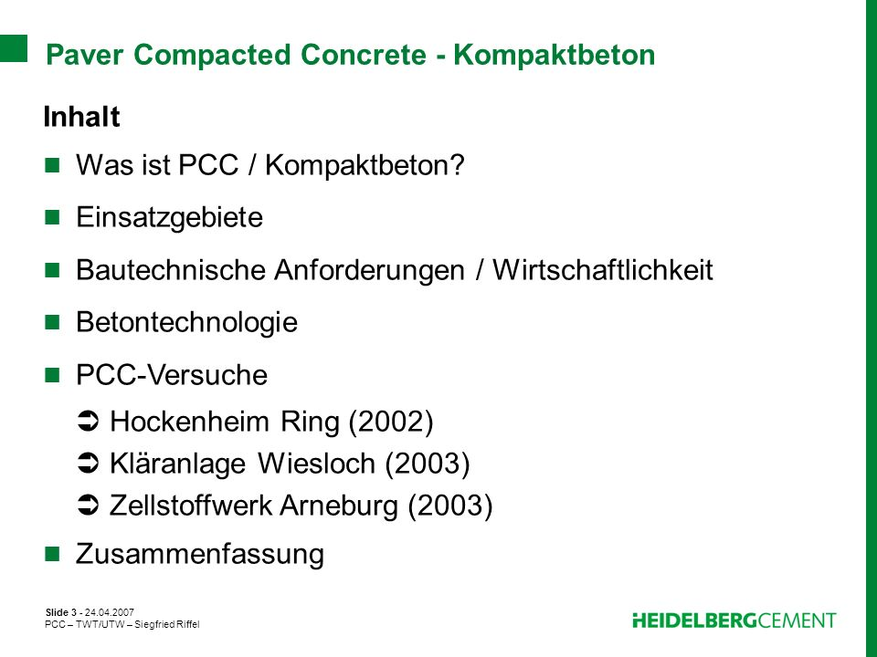 Paver Compacted Concrete - Kompaktbeton