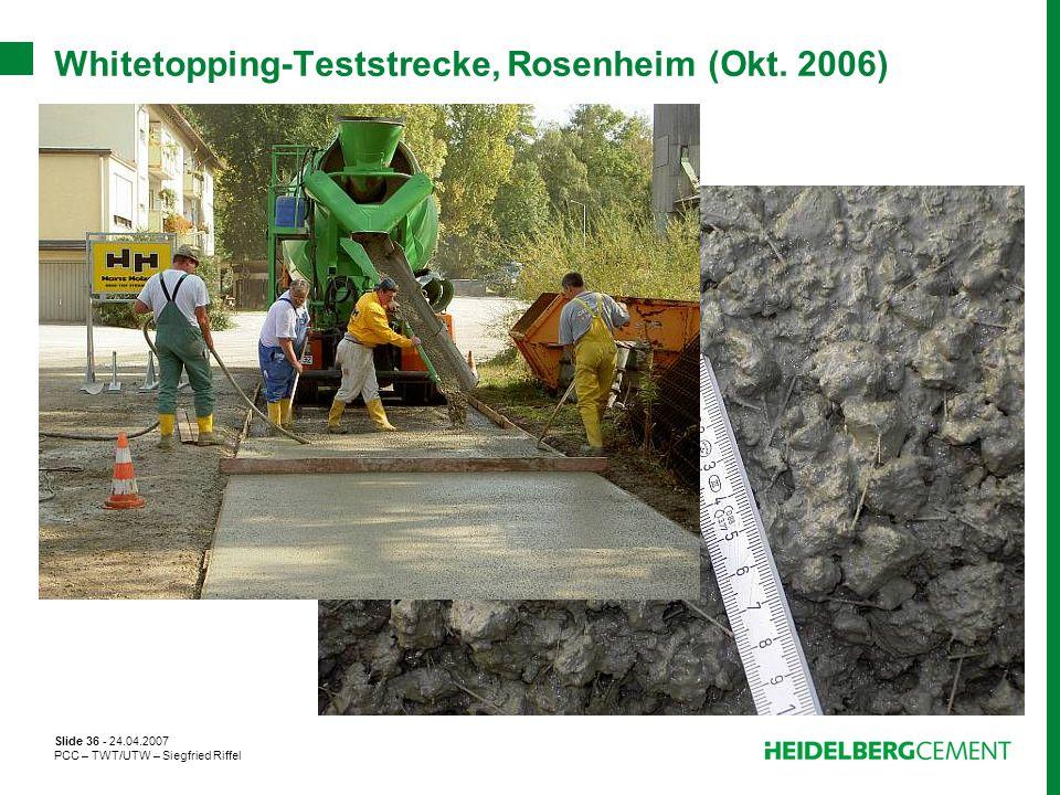 Whitetopping-Teststrecke, Rosenheim (Okt. 2006)