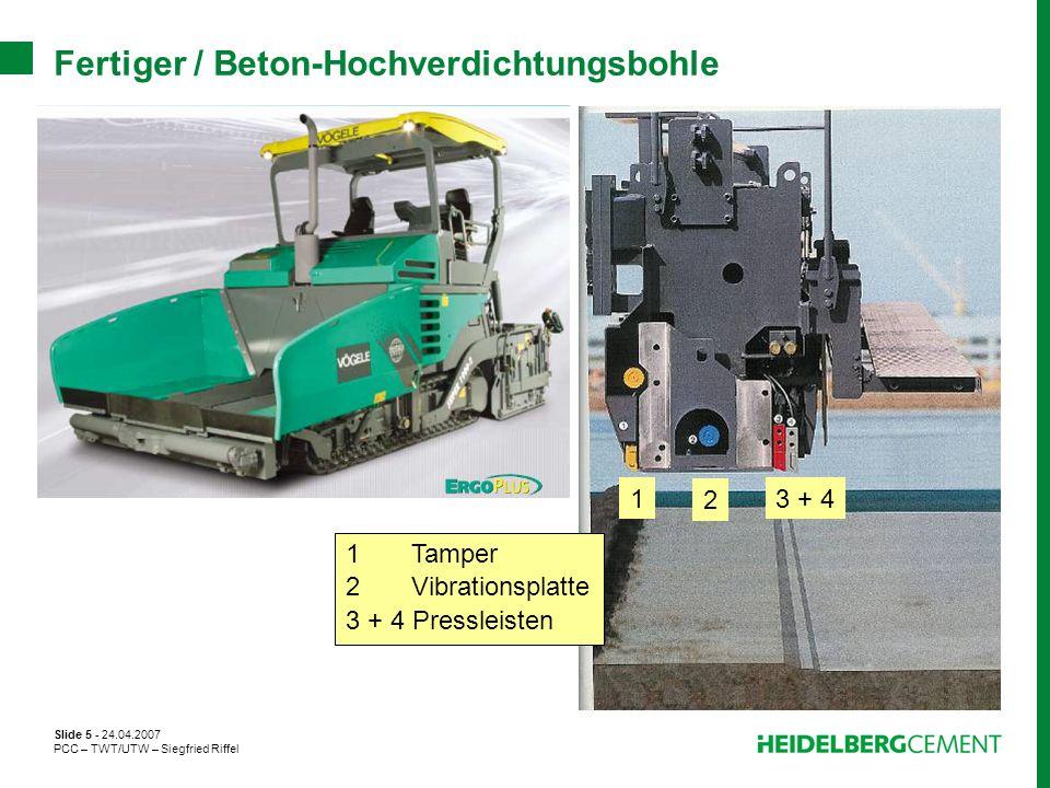Fertiger / Beton-Hochverdichtungsbohle