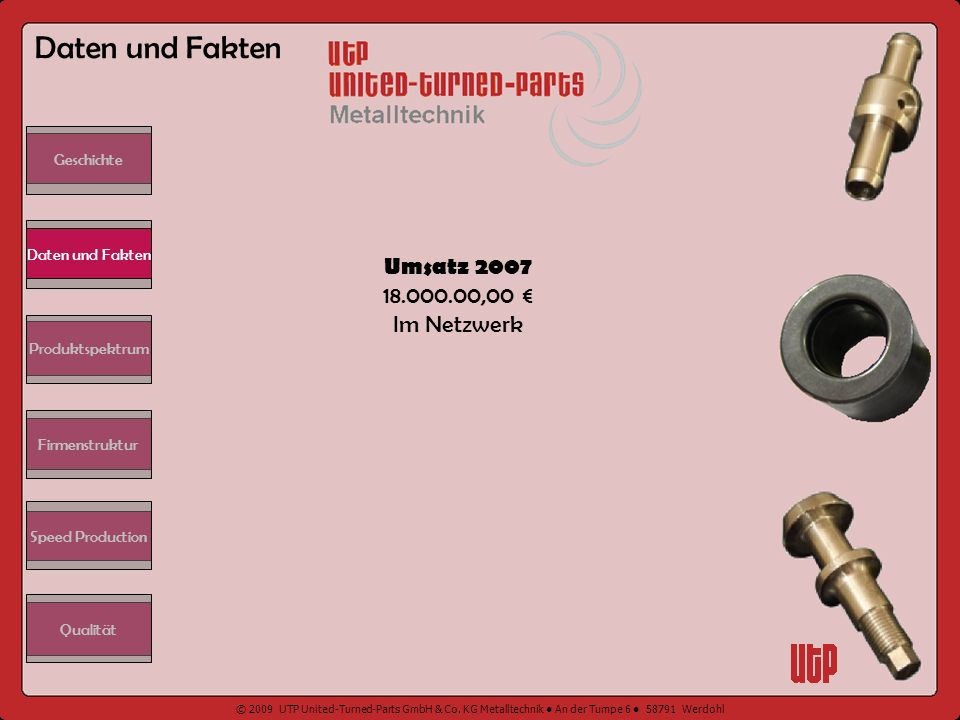 Daten und Fakten Umsatz 2007 18.000.00,00 € Im Netzwerk Geschichte