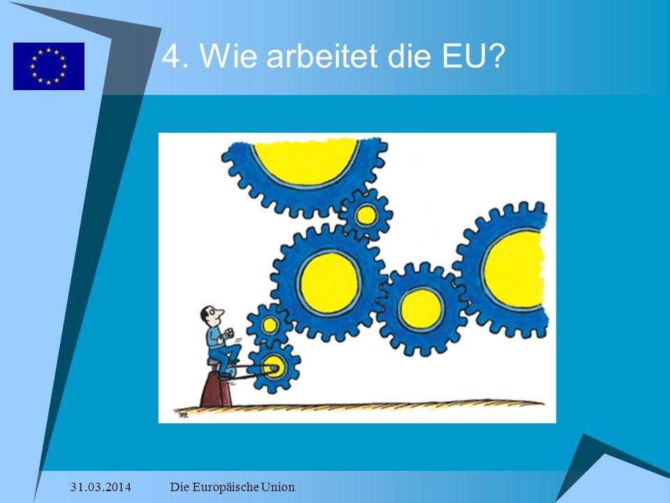 4. Wie arbeitet die EU 28.03.2017 Die Europäische Union