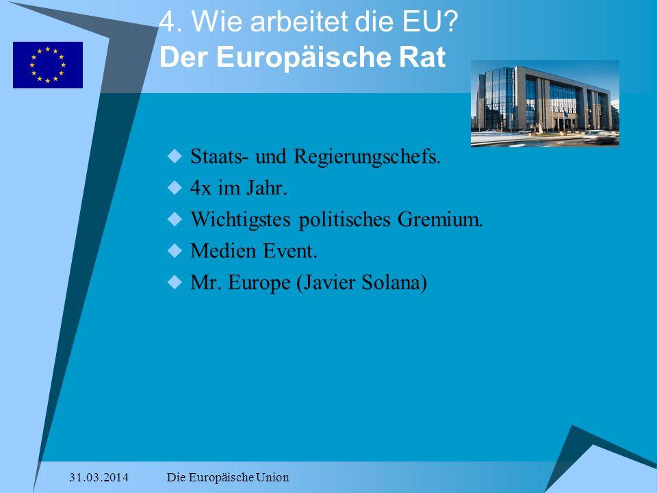 4. Wie arbeitet die EU Der Europäische Rat