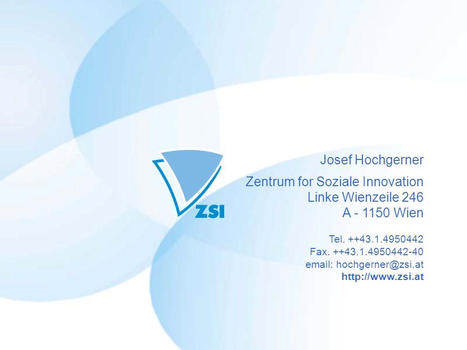 Zentrum for Soziale Innovation Linke Wienzeile 246 A - 1150 Wien