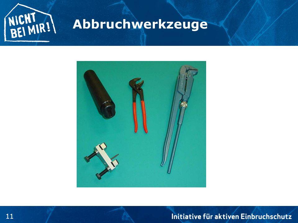 Abbruchwerkzeuge Die meist verwendeten Werkzeuge zum Angriff auf einen Schließzylinder