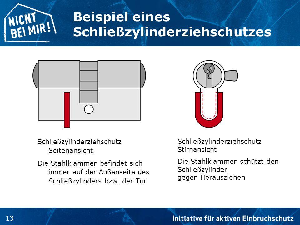 Beispiel eines Schließzylinderziehschutzes