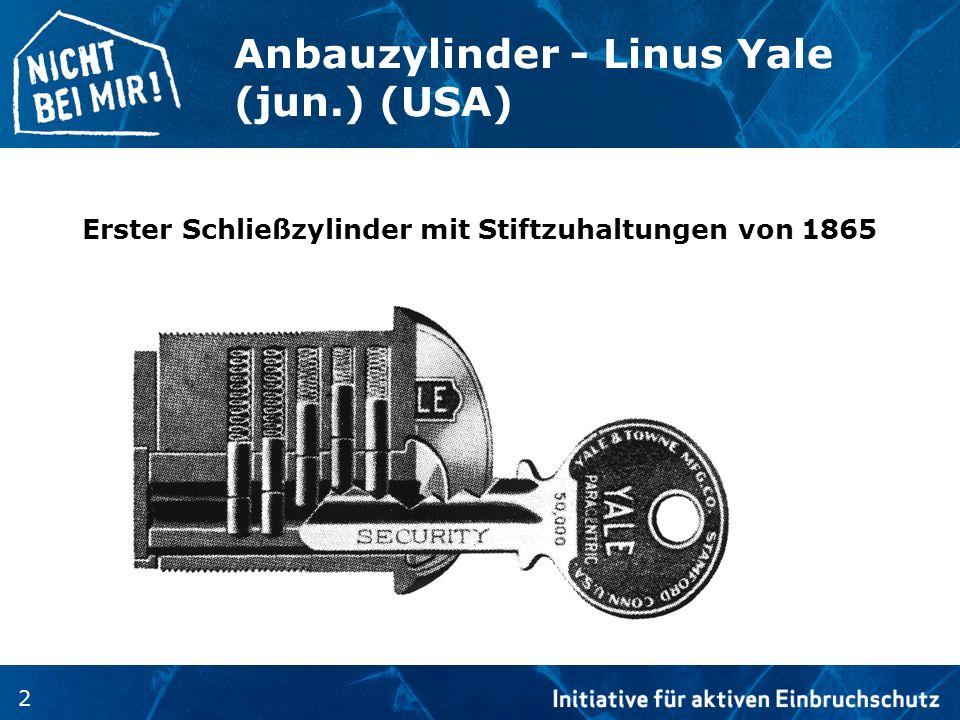 Anbauzylinder - Linus Yale (jun.) (USA)