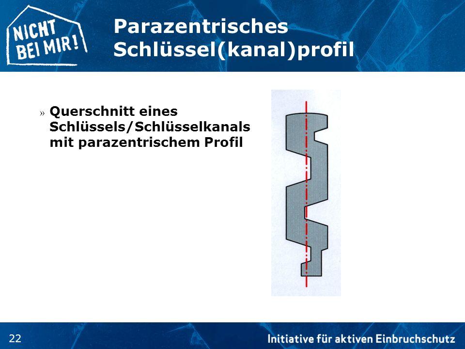 Parazentrisches Schlüssel(kanal)profil