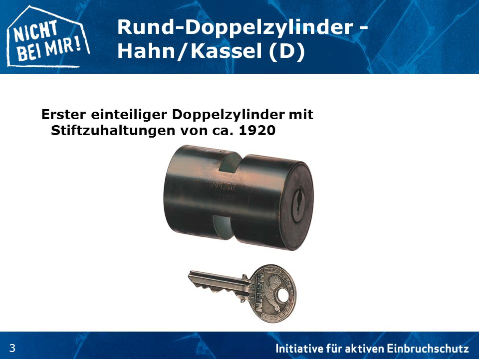 Rund-Doppelzylinder - Hahn/Kassel (D)