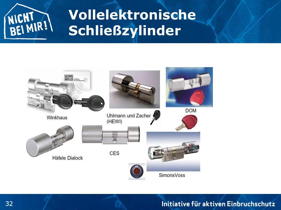 Vollelektronische Schließzylinder