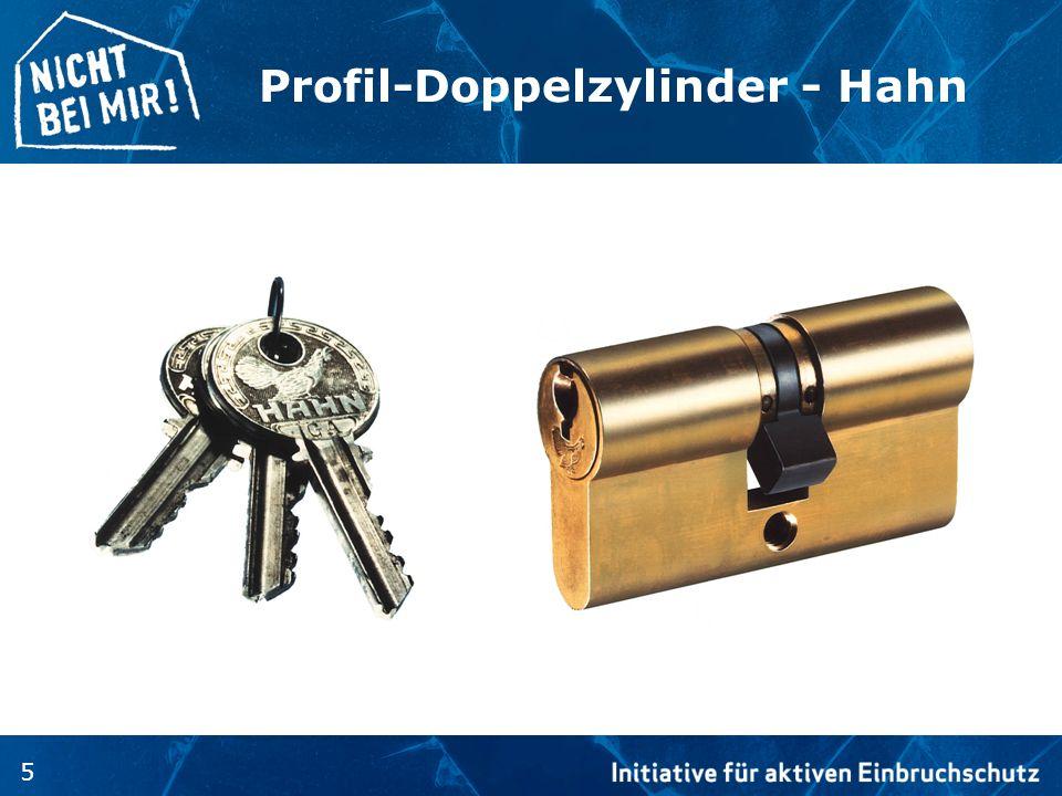 Profil-Doppelzylinder - Hahn